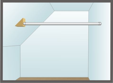 Installing Closet Rod On An Angles Wall Wall Closet Sloped Ceiling Bathroom Attic Shower