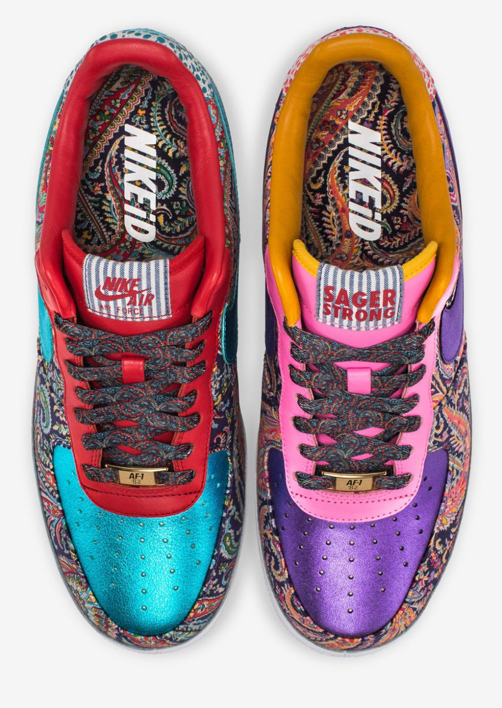 e72f7e1aaae7 These Custom Craig Sager Air Force 1s Are Absurd—and Amazing