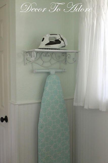 a pretty storage solution for an iron and ironing board b geleisen waschk che und waschraum. Black Bedroom Furniture Sets. Home Design Ideas