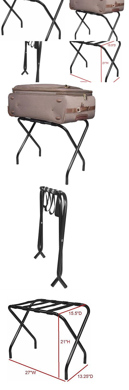 Other Luggage Accessories 173521: Portable Luggage Rack Folding Suitcase  Shelf Stand Travel Shoe Storage Metal