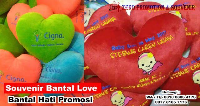 Jual Souvenir Bantal Love – Bantal Hati Promosi  dd0b452d3a