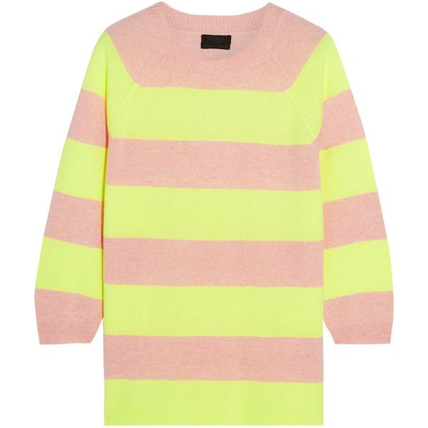 J.Crew Neon striped cashmere sweater ($320) ❤ liked on Polyvore ...
