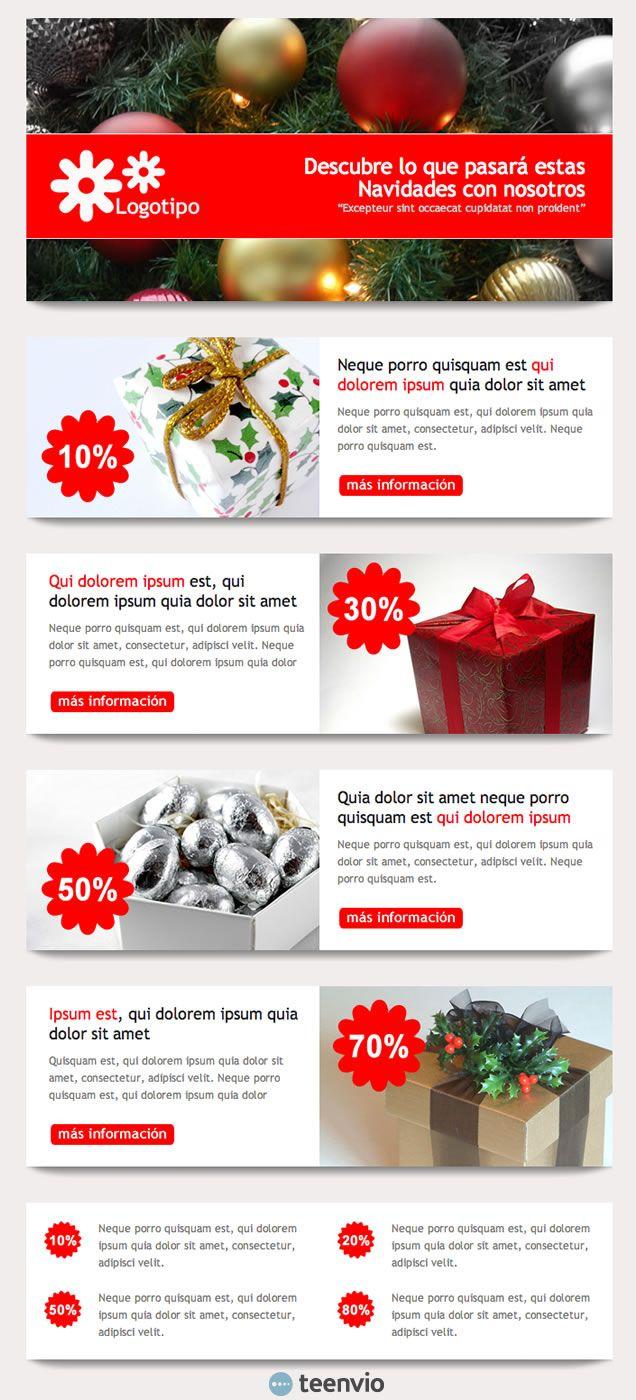 Regalo de Navidad, plantilla HTML gratis para Newsletter en email ...