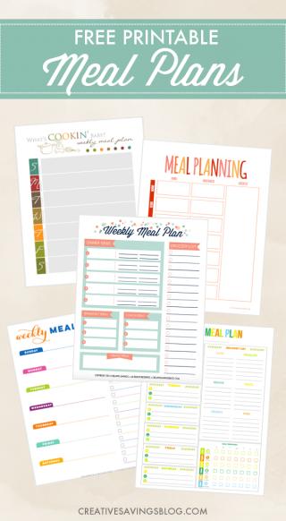 Free Meal Planning Printables  Bullet Journal    Free