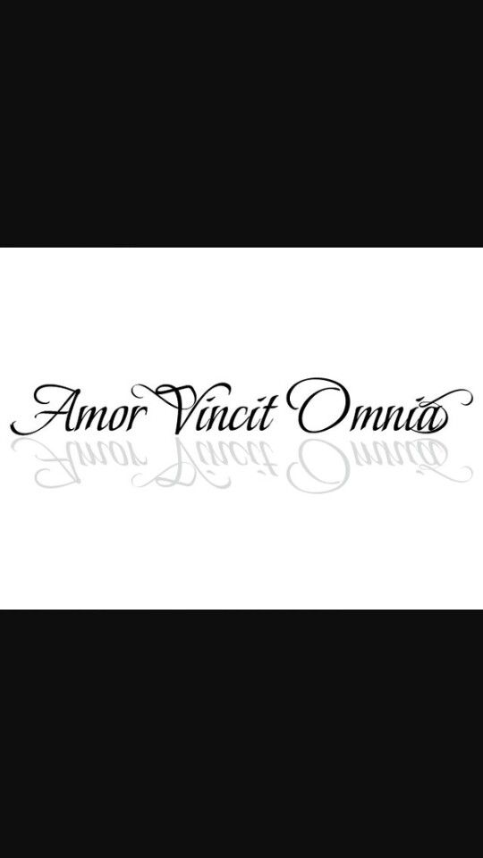 Amor Vincit Omnia With Images Tattoos Amor Arabic Calligraphy