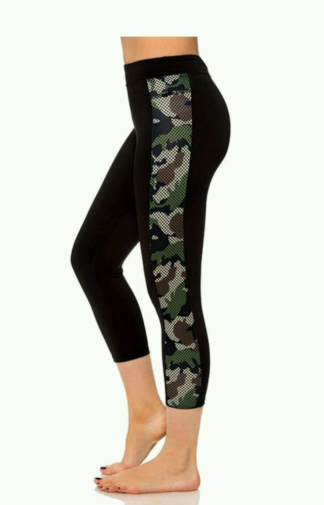 Womens Solid Seamless Leggings Skinny Pants Black Stretch Footless One Size New