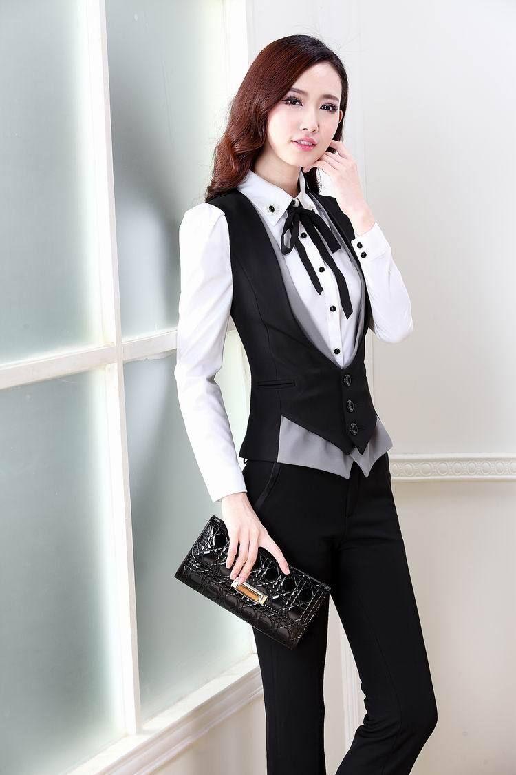 Womens Pant Suit With Vest