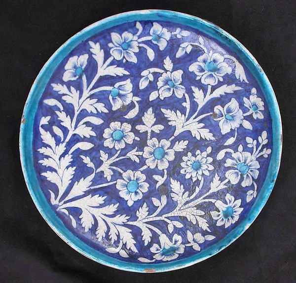 Dish Date 18th Century Geography Present Day Pakistan Multan Culture Islamic Medium Earthenware Glazed Dimensions Diam 10 3 4 In 27 Art Ceramics Art Object