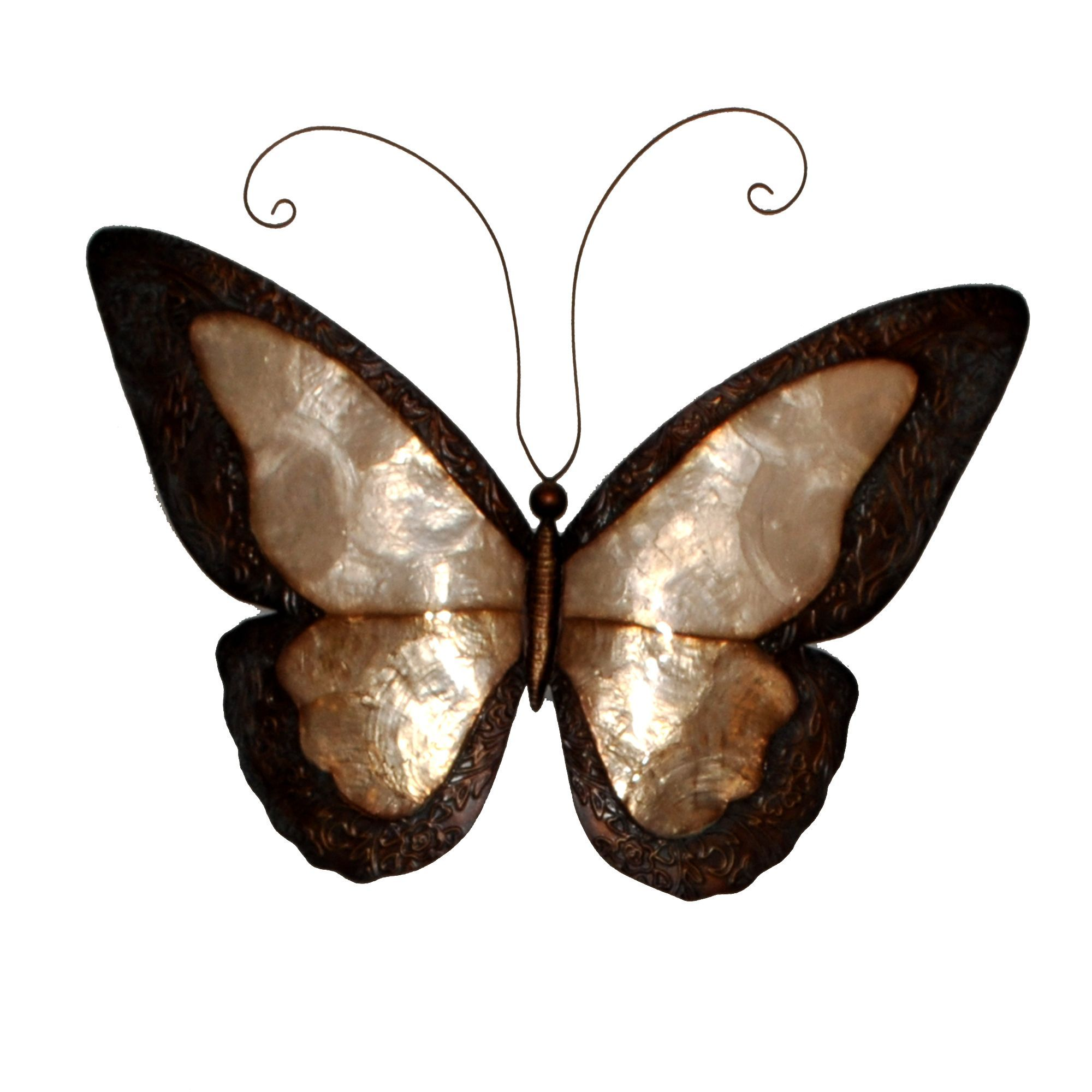 Handmade earthtoned butterfly with border metal art philippines