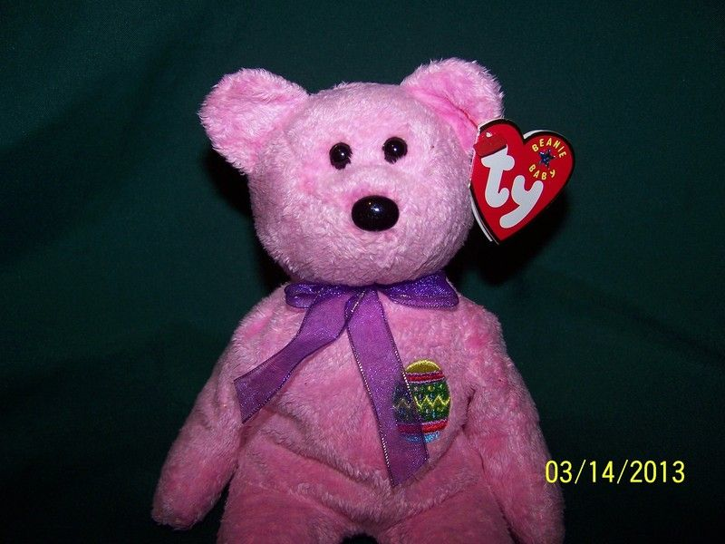 ad21225b375 Ty Beanie Baby Babies Pink Easter Bear Eggs
