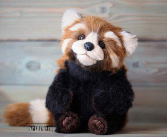 Red panda By Evgeniya Che - Height 28,5 cm Sitting Height 22 cm - kleine u küche