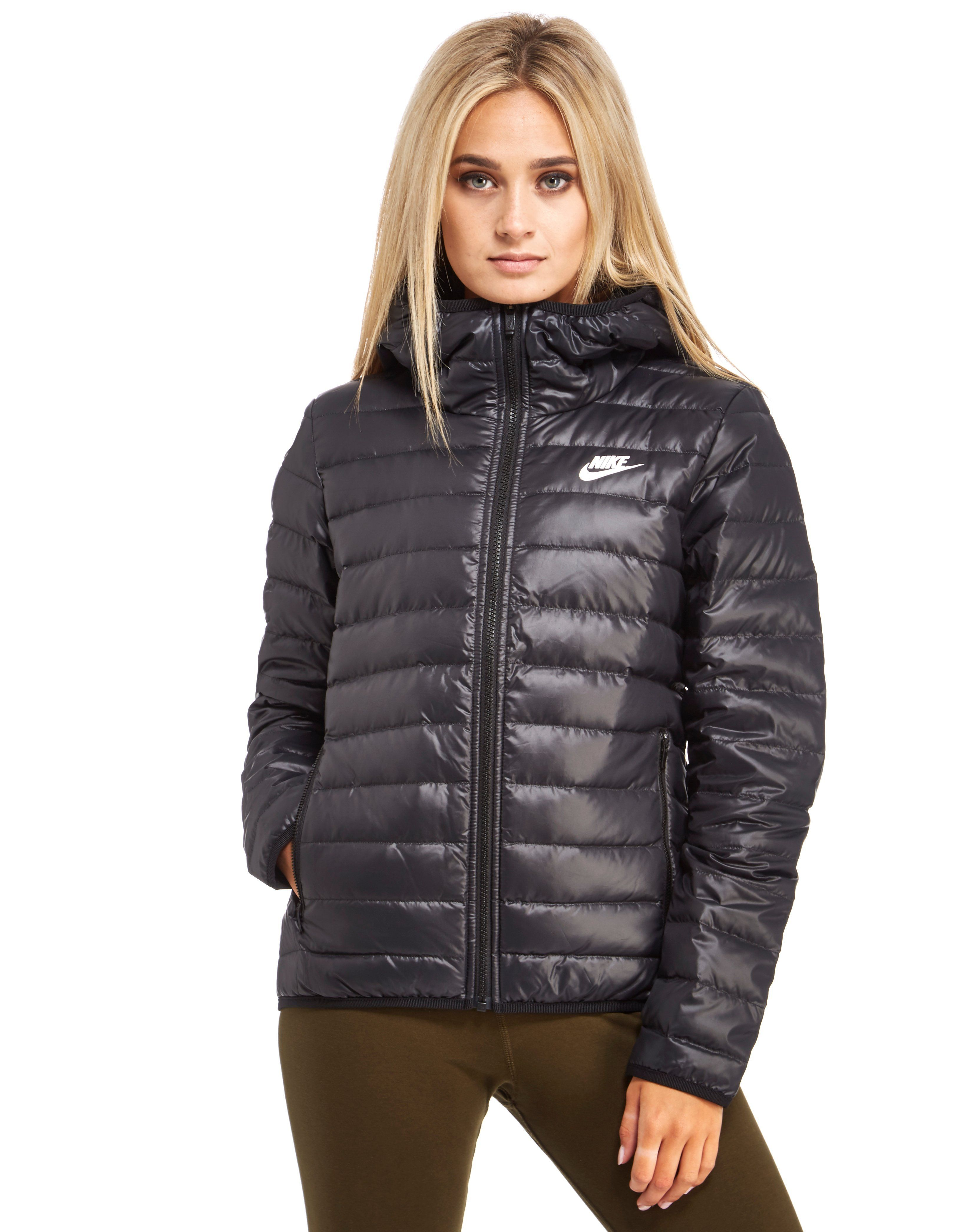 9615fee83 puffer jacket women's with fur hood | scurte in 2019 | Black nike ...