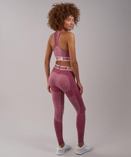 91ef4a67a4625 Gymshark Flex Leggings - Beet Marl/Chalk Pink 1   Nerdcore! Stuff I ...