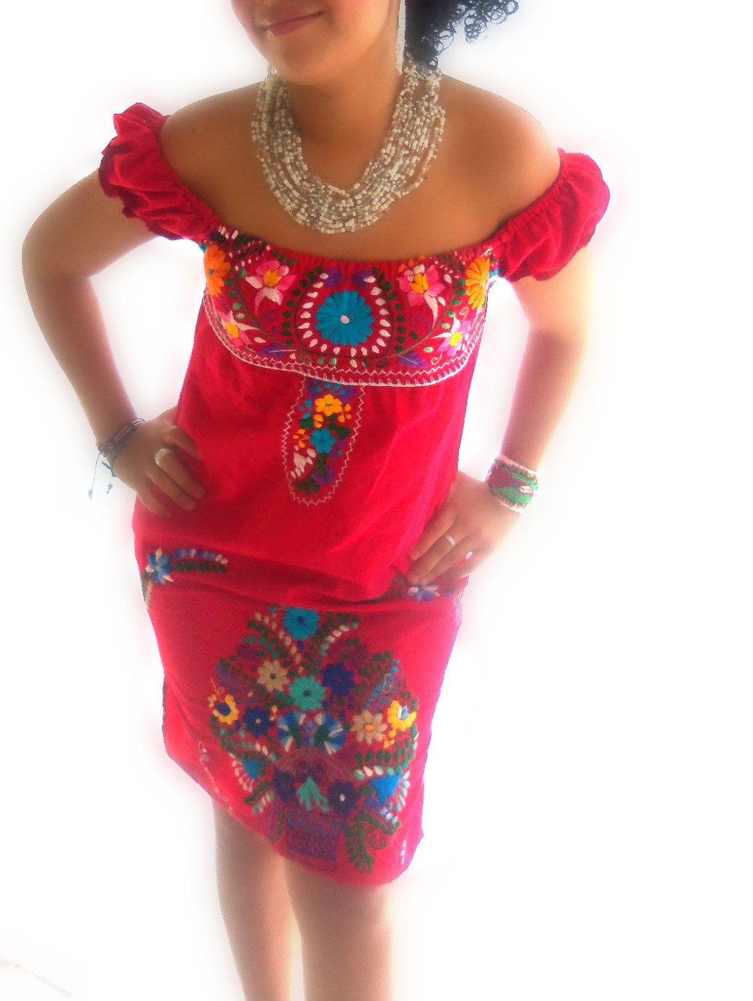 Flor Der Fuego off shoulder mexican by elizabethpalmer on Etsy ...