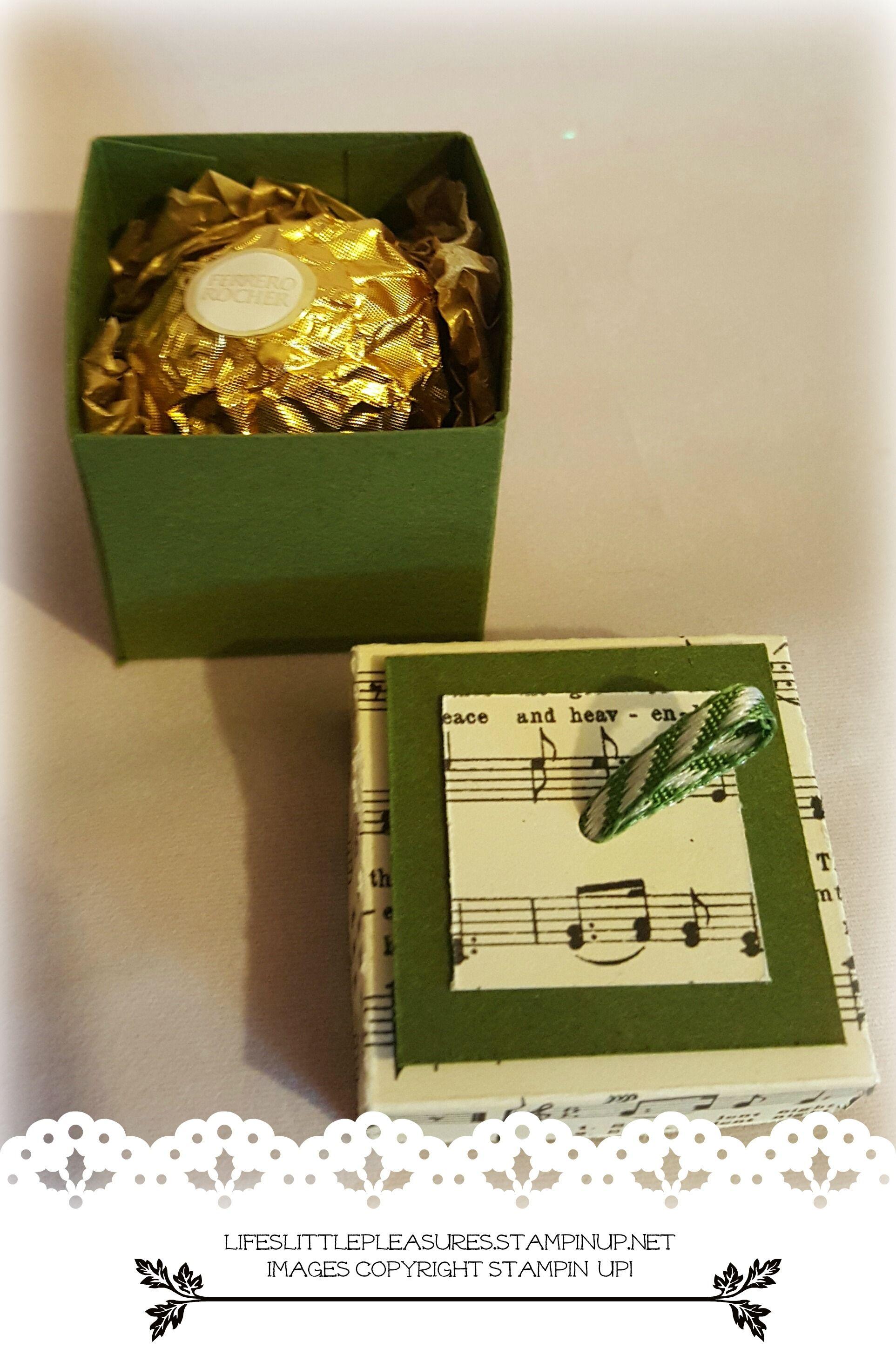 Individual Chocolate Box Using Stampin Up Supplies