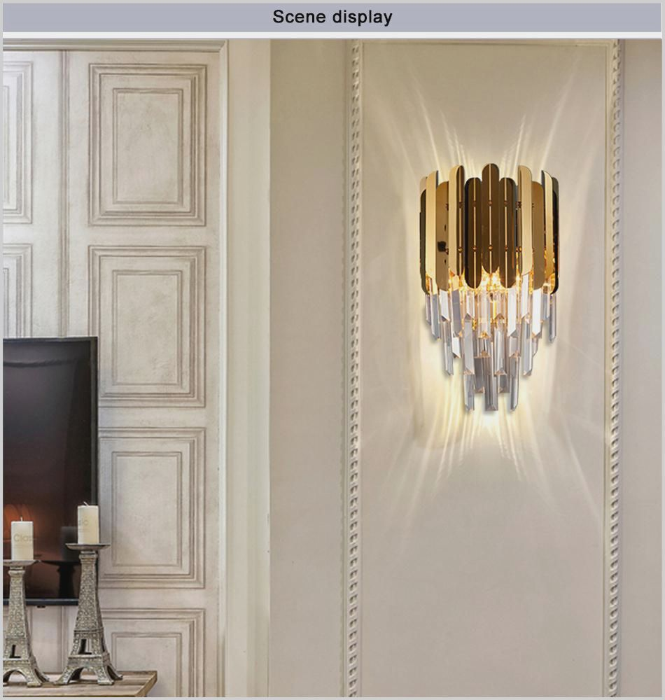 Living Room Wall Sconce Height Crystal Wall Lighting Modern Wall Sconces Luxury Wall Sconces Side lights for living room