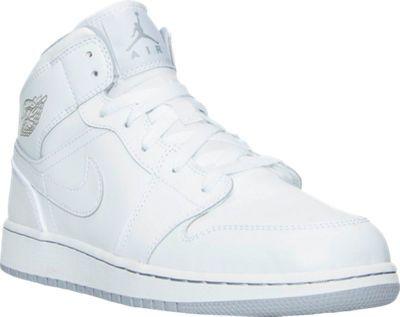 Boys' Grade School Air Jordan 1 Mid Basketball Shoes | Finish Line...$85