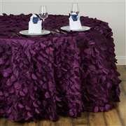 Brombeer Farbe tischdecken rund farbe brombeer mit rosendruck hochzeitsdeko