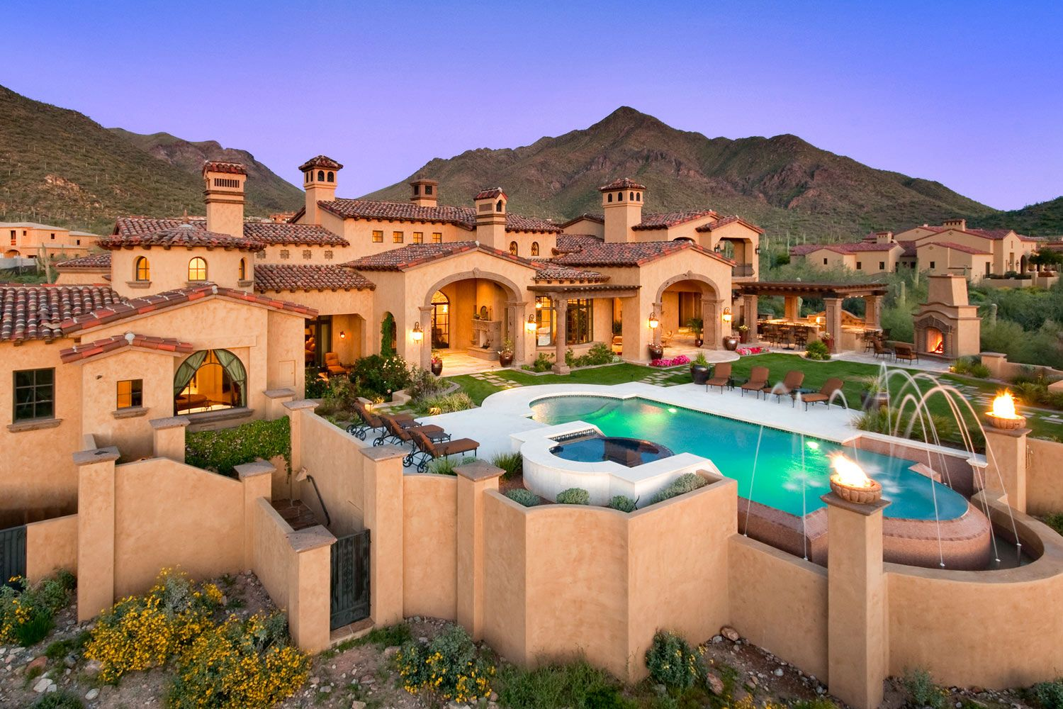 Mediterranean tuscan homes page luxhomes the