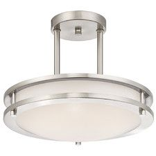 1 Light Dimmable LED Semi-Flush Mount