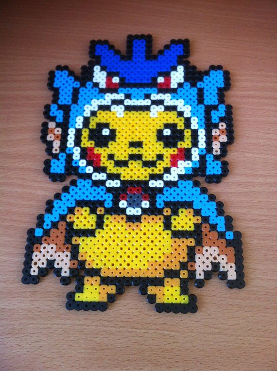 Pixel Art X2f Perler Beads Pikachu Costume Perler Beads