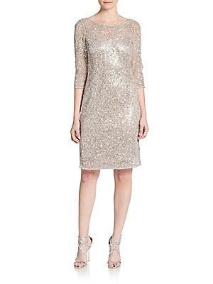 Sequined Shift Dress  Kay Unger $740.00   now  $249.99 (66% Off)   New Years Eve here I come