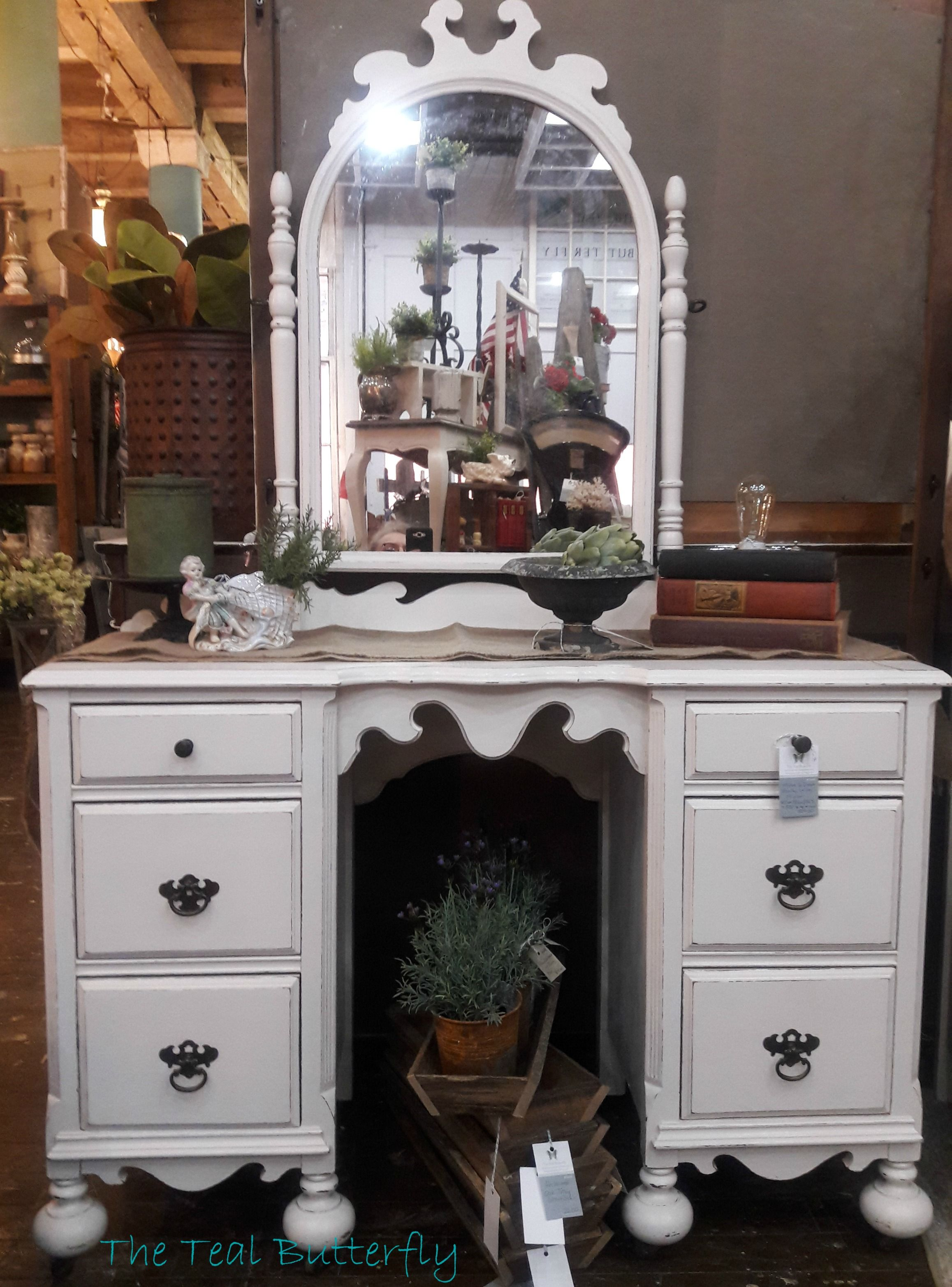 Vanity with Mirror painted with Amy Howard One Step paint