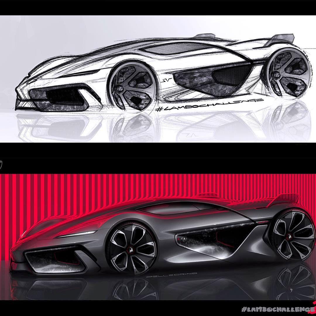 Lambochallenge gallery of works on behance automotive sketchs voiture dessin et technologie - Croquis voiture ...