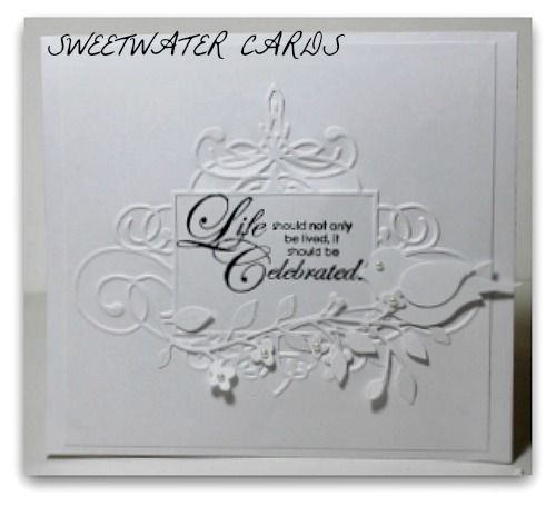 1124-1096- Lovely Birthday card using Cuttlebug, Memory Box and Stampin Up
