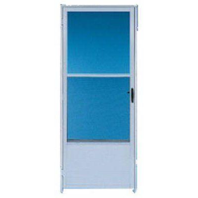 Croft Storm Door Self Storing Screen White Aluminum 32 X 80 X 1 In Model 163 32rev Wh True Value Storm Door Best Storm Doors Storm Door Hardware