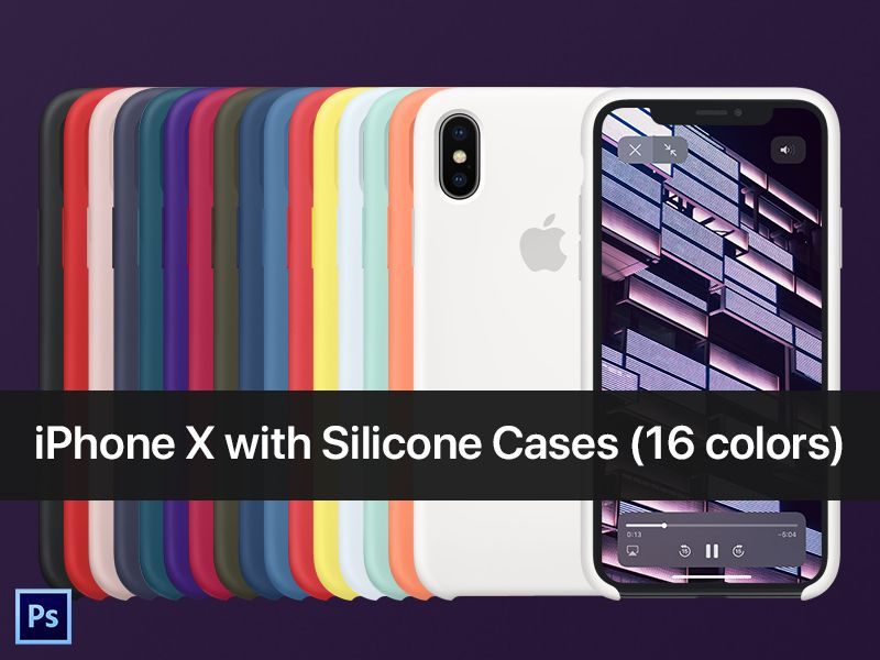 Download Iphone X With Silicone Case Psd Mockup Silicon Case Silicone Iphone Cases Iphone