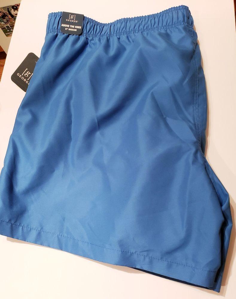 9651645c7c George Men's Swim Trunks Shorts Size 3XL 48-50 Cobalt Splash 6