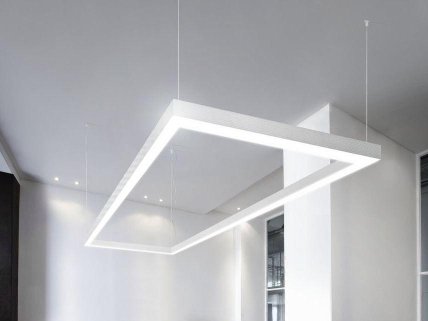 Lampade Ufficio Sospensione : Barra a led lineare nolita out by panzeri 3f inspired lighting