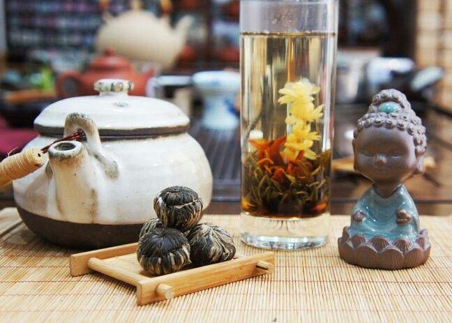 как называется распускающийся чай