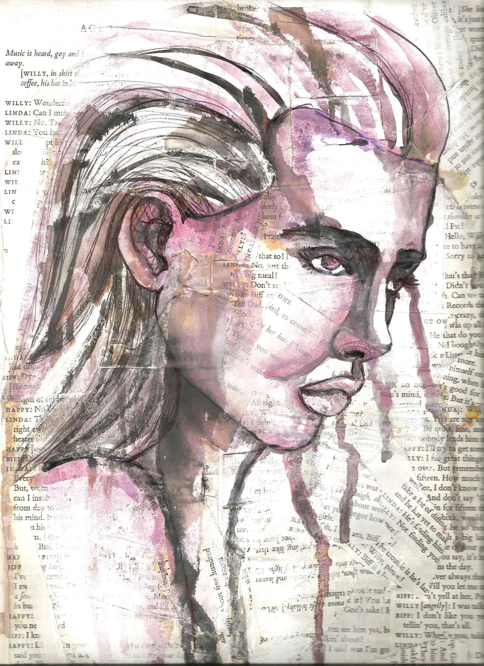 Fading Figures Expressive Paintings