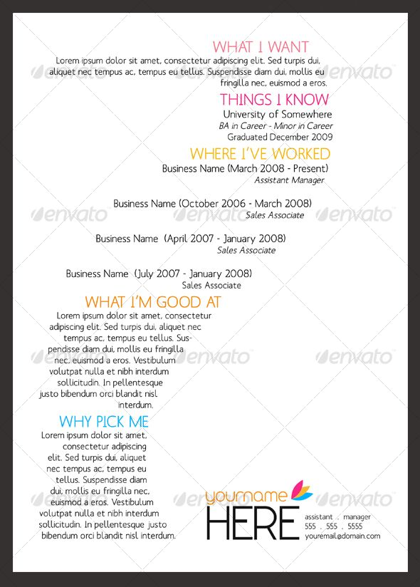 sinewave resume template a4 letter graphic design - Resume Templates For Graphic Designers