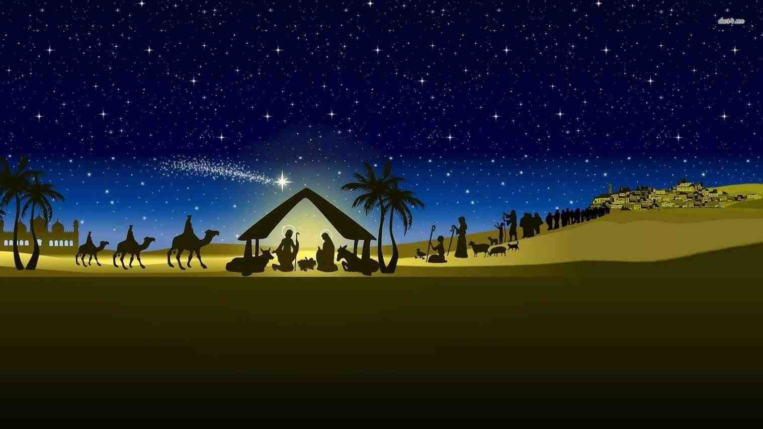 New postblue christmas background nativitytrendingcheminee