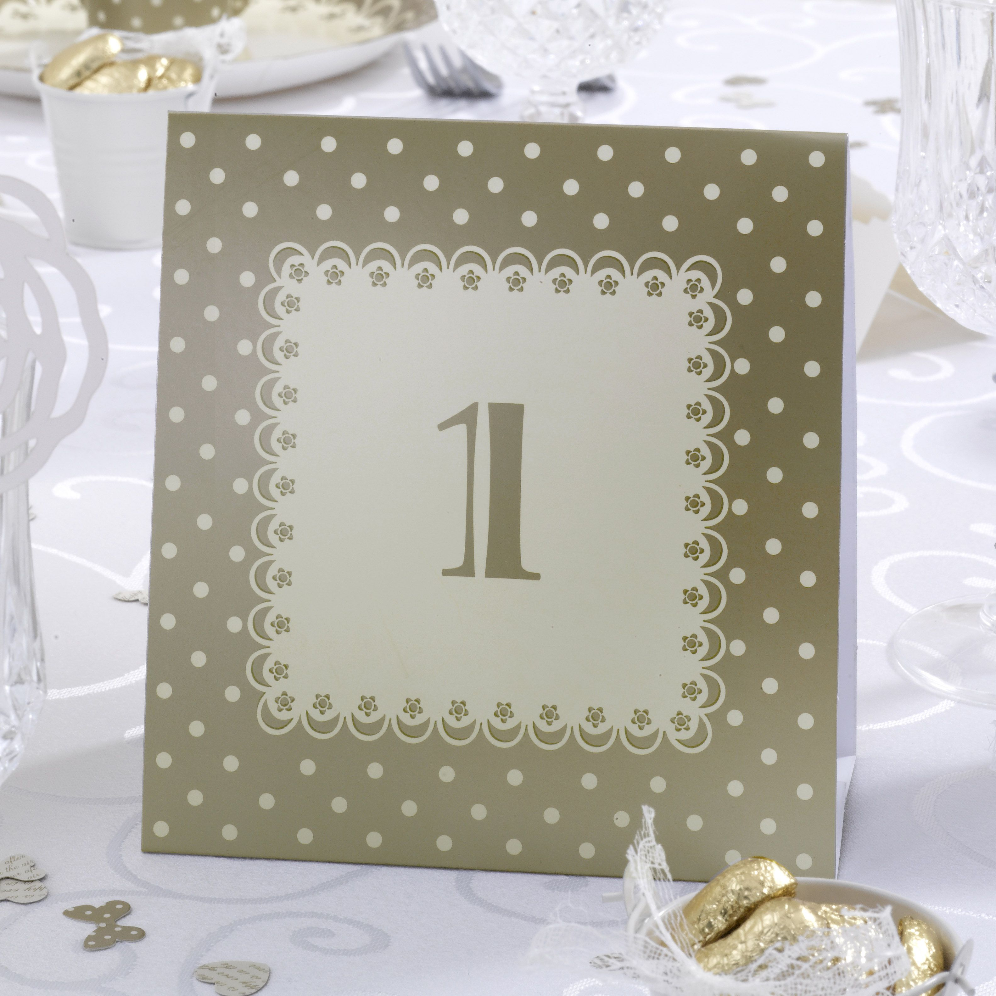Wedding Table Decorations, Table Number - Chic Boutique | Wedding ...