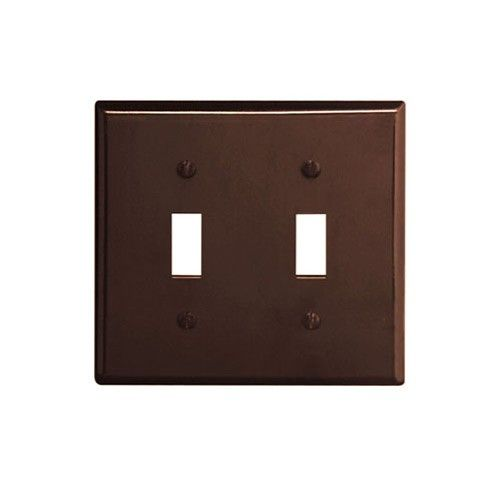 Leviton 85009 Electrical Wall Plate Toggle Switch 2 Gang Brown