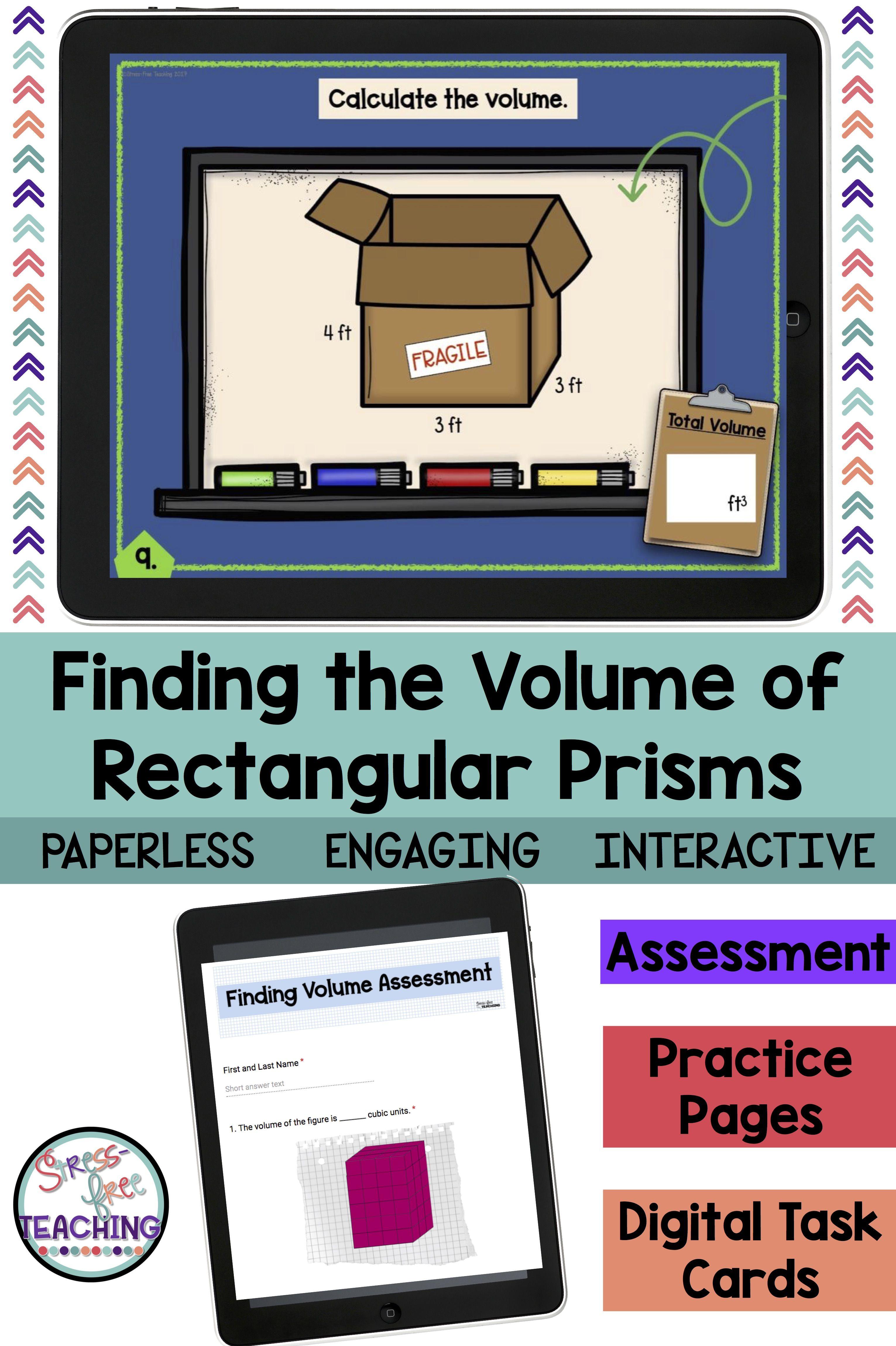 5th Grade Volume Of Rectangular Prisms For