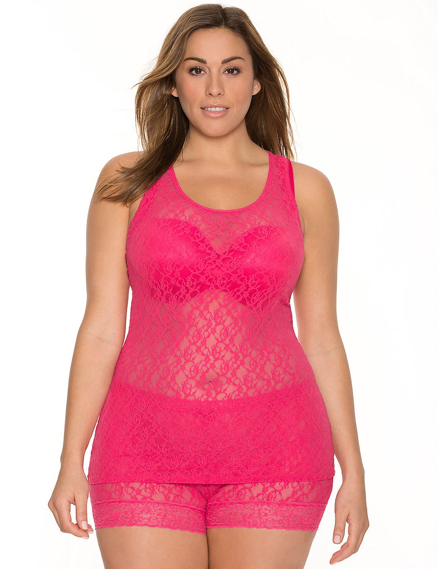 wife in lane bryant lingerie