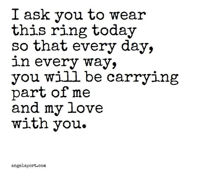 Beautiful As Part Of A Ring Exchange Angelaport Wedding Day QuotesWedding