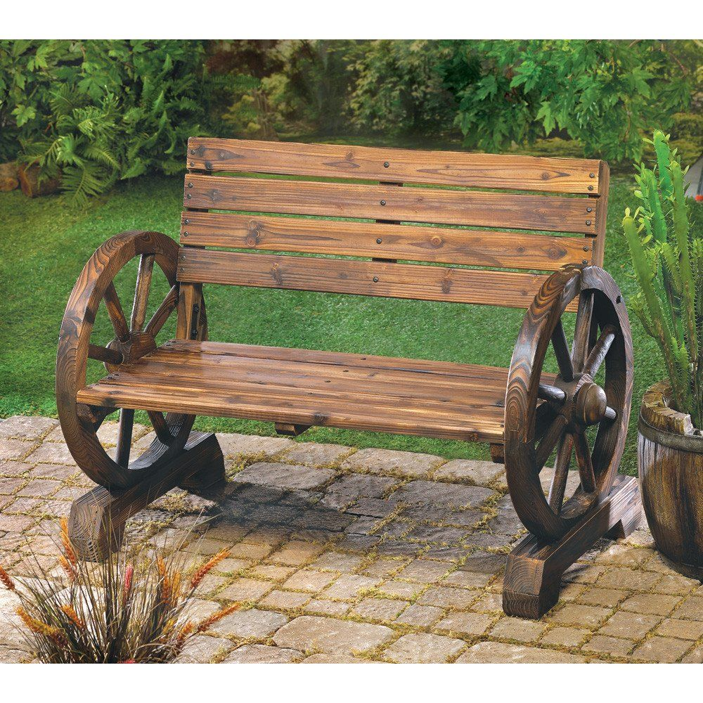 Wagon wheel bench | Wagon wheels, Bench and Wheels