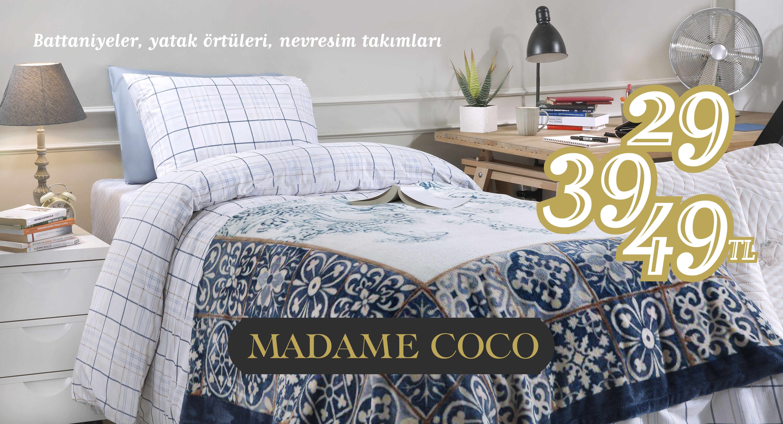 """10768ead84009 Bu hafta Battaniye , Yatak Örtüsü ve Nevresim Takımları 29-39-49TL!  Kaçırmayın!"""" Madame Coco, #Terracity Bodrum Katta."""