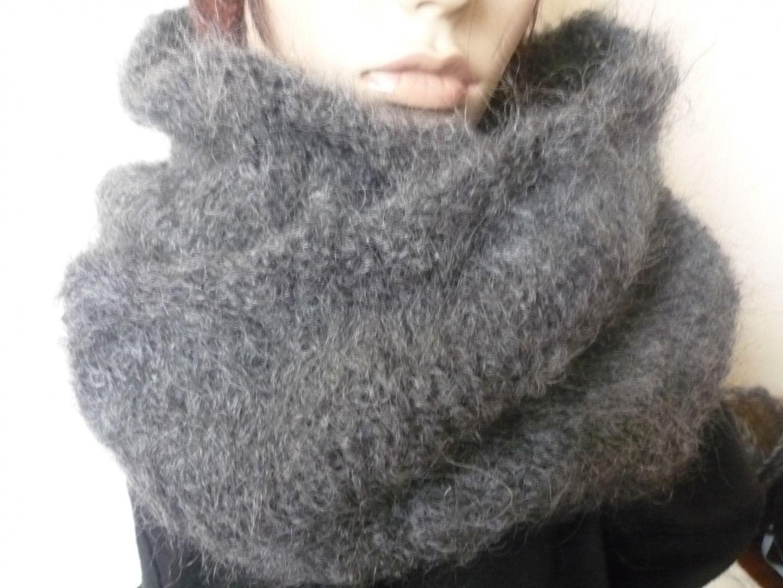 tricoter un snood en mohair