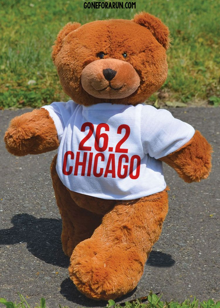 Looking for a special gift to send to celebrate a huge racing accomplishment? Get this personalized race bear! goneforarun.com