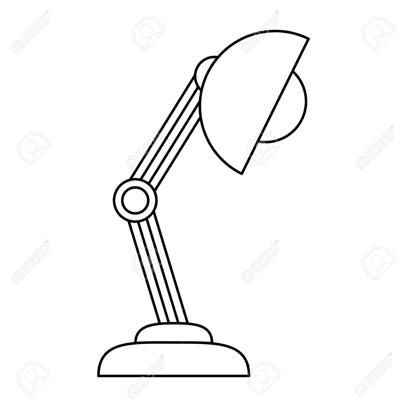 Desk Lamp Icon Over White Background Vector Illustration Affiliate Icon Lamp Desk White A Brand New Kitche In 2020 Desk Lamp New Kitchen Designs Lamp