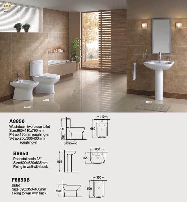 Toilet Bidet Pedestal Basin Your Bathroom Two Piece Bathroom Set