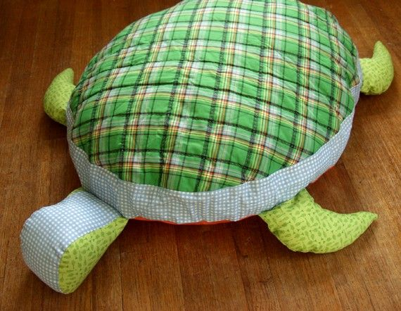 Oversized Turtle Floor Cushion Turtle Quilt Diy Stuffed