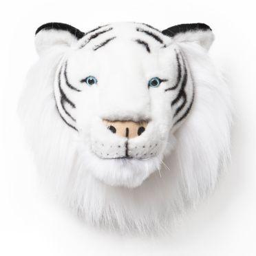 plusch tierkopf trophae weisser tiger albert von wild soft weisse weltkarte metall wanddeko wanddekoration